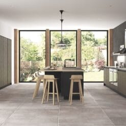 Cricklade stained Truffle Grey and Cerney Matte Graphite_Main Shot_ - By Riley James Kitchens, Stroud