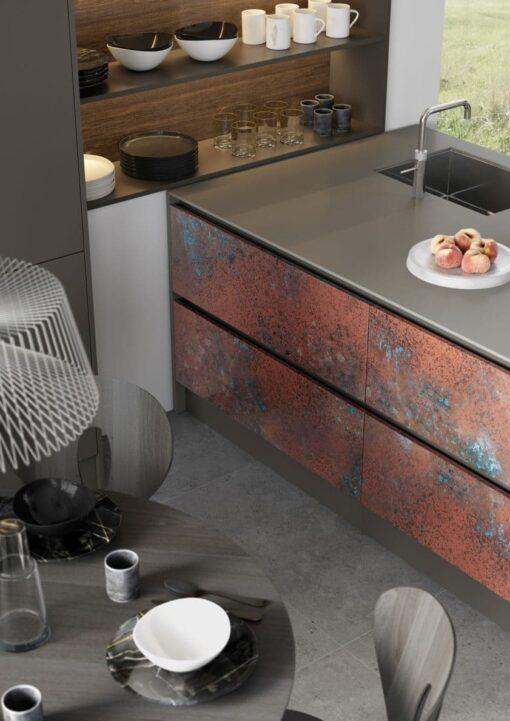 Frampton Oxidized Copper and Rezana Espresso Oak_Cameo 2 - By Riley James Kitchens, Stroud