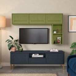Haresfield Slate Blue, Stone and Citrus Green_Cameo 3_ - By Riley James Kitchens, Gloucestershire