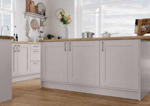 The Kemble Shaker Kitchen in Cashmere, from Riley James Kitchens Gloucestershire