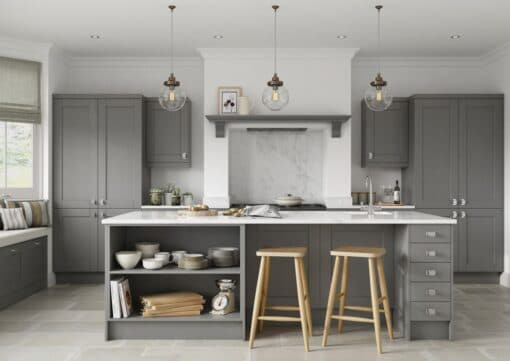 The Kemble Shaker Kitchen in Dust Grey, from Riley James Kitchens Gloucestershire