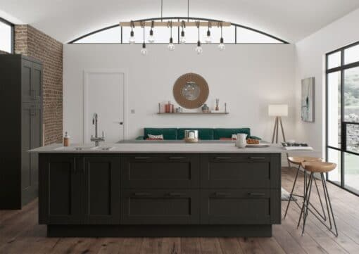 The Kemble Shaker Kitchen in Graphite, from Riley James Kitchens Gloucestershire