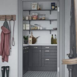 The Kemble Shaker Kitchen in Indigo, from Riley James Kitchens Gloucestershire