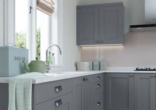 The Kemble Kitchen, Painted Light Grey and Dust Grey - Riley James Kitchens, Gloucestershire