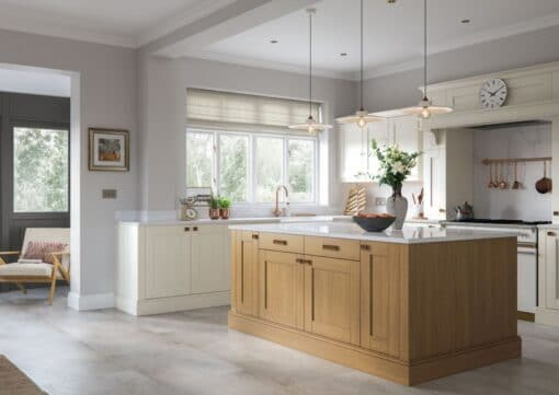 Malborough Light Oak and Ivory_Cameo 1 - by Riley James Kitchens