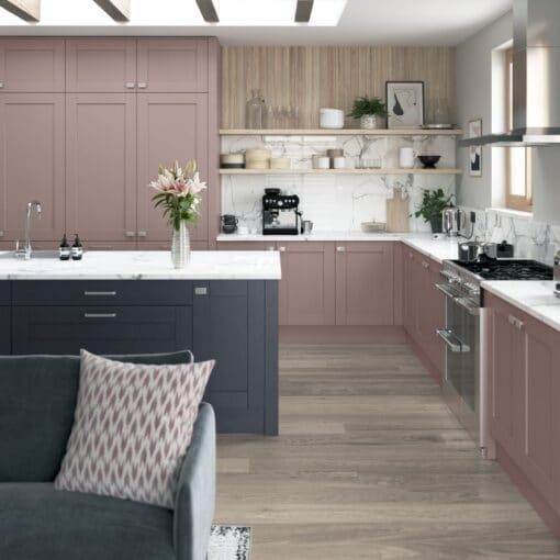 Malborough Vintage Pink and Slate Blue_Cameo 1, by Riley James Kitchens