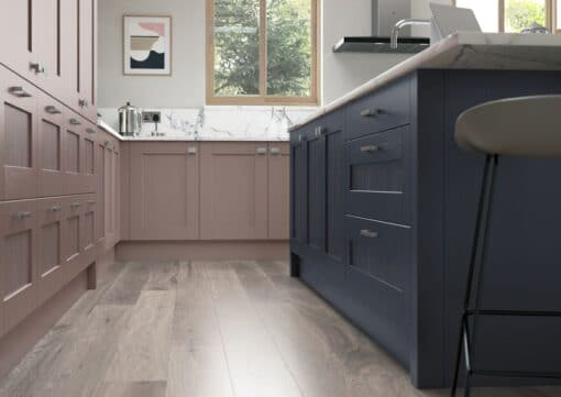Malborough Vintage Pink and Slate Blue_Cameo 2, by Riley James Kitchens