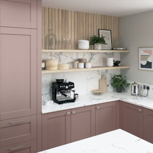 Malborough Vintage Pink and Slate Blue Cameo 4 - by Riley James Kitchens