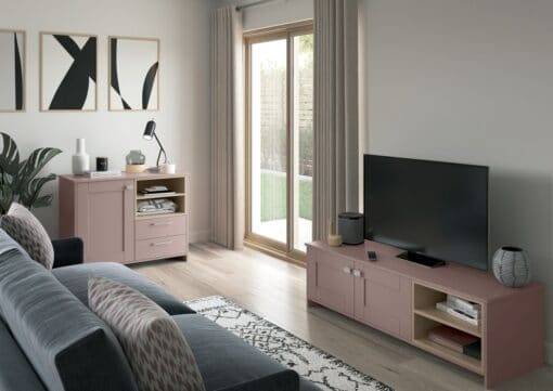 Malborough Vintage Pink and Slate Blue Cameo 5 - by Riley James Kitchens