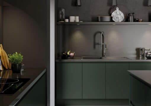 Siddington Painted Matte Deep Forest, Cameo 3 - by Riley James Kitchens, Gloucestershire