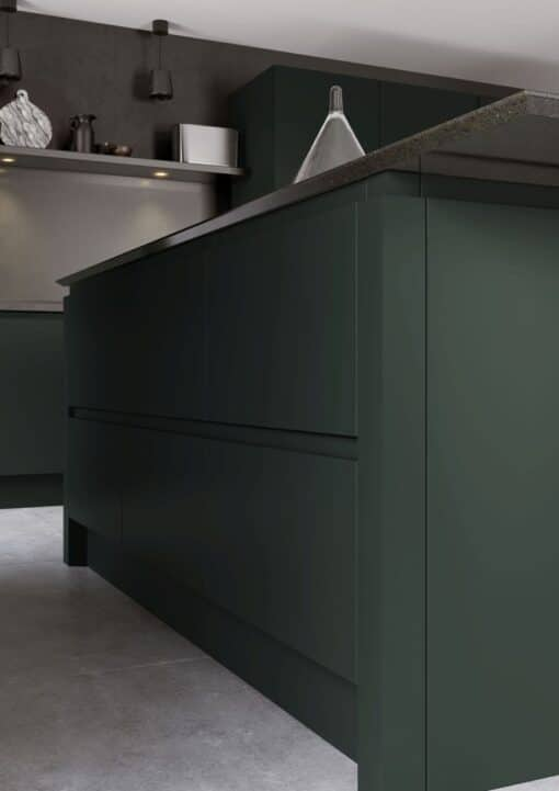 Siddington Painted Matte Deep Forest, Cameo 4 - by Riley James Kitchens, Gloucestershire