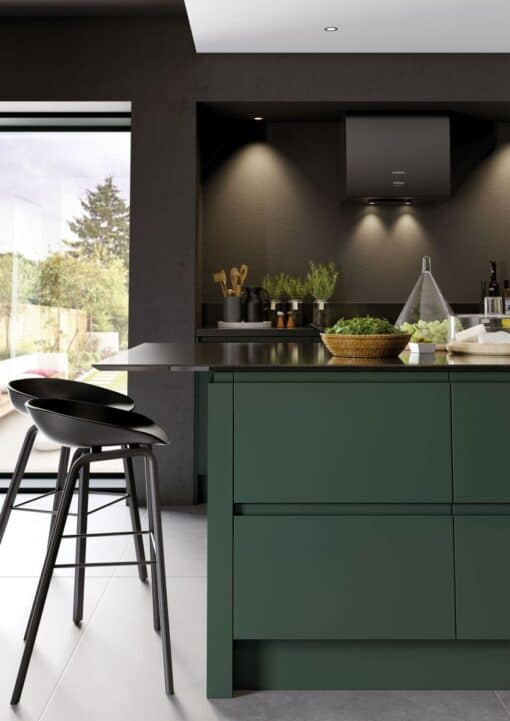 Siddington Painted Matte Deep Forest, Cameo 5 - by Riley James Kitchens, Gloucestershire