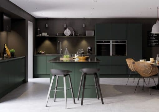 Siddington Painted Matte Deep Forest, Main Shoot - by Riley James Kitchens, Gloucestershire