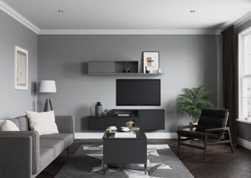 Siddington Painted Matte Light & Dust Grey, Cameo 1 - by Riley James Kitchens, Gloucestershire