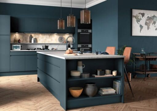 Siddington Painted Matte Marine, Cameo 1 - by Riley James Kitchens, Gloucestershire