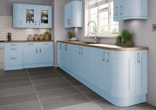 Tewkesbury shaker Kitchen - Painted Blue, from Riley James Kitchens Gloucestershire