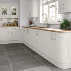 Tewkesbury shaker Kitchen - Painted Light Grey, from Riley James Kitchens Gloucestershire