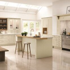 Tewkesbury shaker Kitchen - Mussel, from Riley James Kitchens Gloucestershire