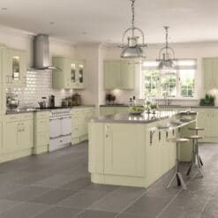 Tewkesbury shaker Kitchen - Painted Sage Green, from Riley James Kitchens Gloucestershire