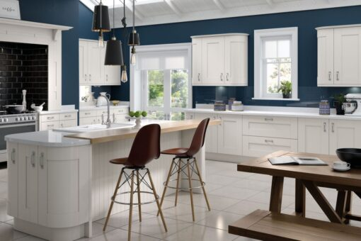 Tewkesbury shaker Kitchen - White, from Riley James Kitchens Gloucestershire