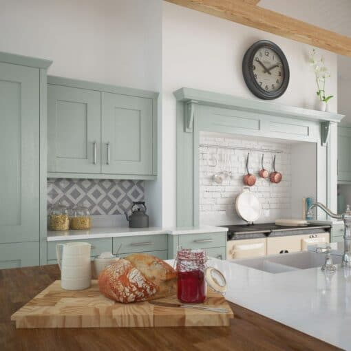 The Oakridge Kitchen, in Pantry Blue from Riley James Kitchens Gloucestershire