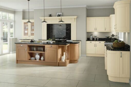 The Woodchester Kitchen, Cream & Oak - Riley James Kitchens, Gloucestershire