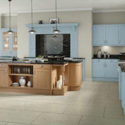 The Woodchester Kitchen, Denim & Oak - Riley James Kitchens, Gloucestershire