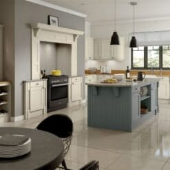 The Woodchester Kitchen, Mussel & Dust Grey - Riley James Kitchens, Gloucestershire