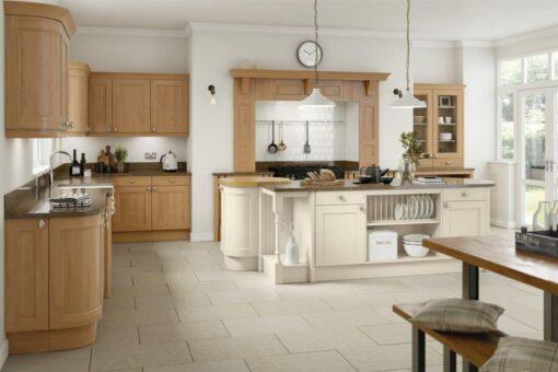 The Woodchester Kitchen, Oak & Ivory - Riley James Kitchens, Gloucestershire