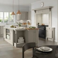 The Woodchester Kitchen, Painted Pebble Grey - Riley James Kitchens, Gloucestershire