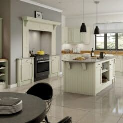 The Woodchester Kitchen, Painted Sage Green - Riley James Kitchens, Gloucestershire