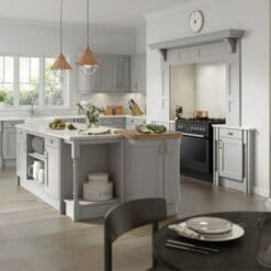 The Woodchester Kitchen, Painted Silver Grey - Riley James Kitchens, Gloucestershire