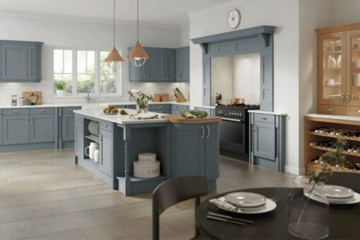 The Woodchester Kitchen, Painted Smokeblue - Riley James Kitchens, Gloucestershire