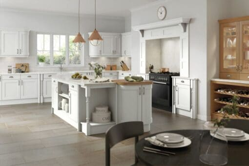 The Woodchester Kitchen, Painted Super White - Riley James Kitchens, Gloucestershire