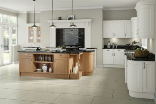 The Woodchester Kitchen, White and Oak - Riley James Kitchens, Gloucestershire