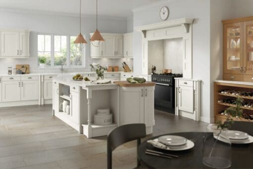 The Woodchester Kitchen, Painted White Grey - Riley James Kitchens, Gloucestershire