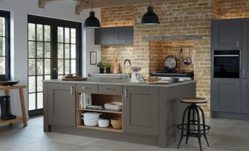 The Oakridge Kitchen, in Lava & Graphite from Riley James Kitchens Gloucestershire