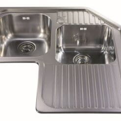 CDA CCP3SS Corner Sink - available from Riley James Kitchens, Gloucestershire