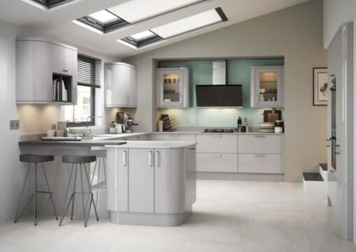 Cerney Gloss Cashmere - by Riley James Kitchen Gloucestershire