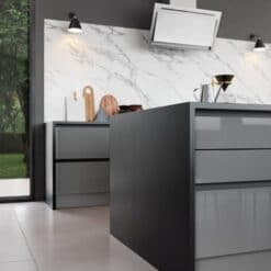 Cerney Gloss Dust Grey - by Riley James Kitchen Gloucestershire