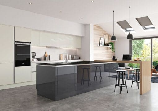 Cerney Gloss Porcelain and Graphite - by Riley James Kitchen Gloucestershire
