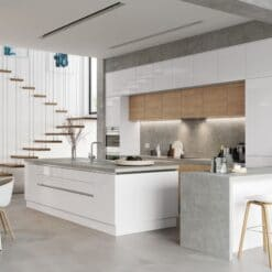Cerney Gloss White - by Riley James Kitchen Gloucestershire