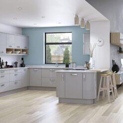 Cerney Gloss Light Grey - by Riley James Kitchen Gloucestershire